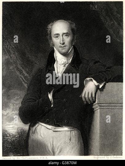RIGHT HONOURABLE CHARLES GREY  2ND EARL GREY  Member of Parliament      Date: 1764 - 1845 - Stock Image