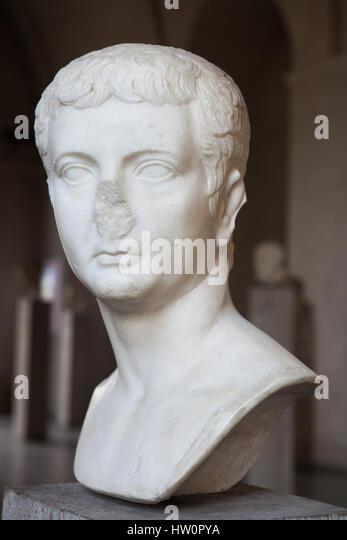Roman Emperor Nero Statue In Anzio Italy Stock Image