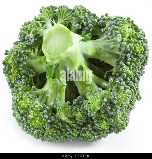 Broccoli on a white background. - Stock-Bilder