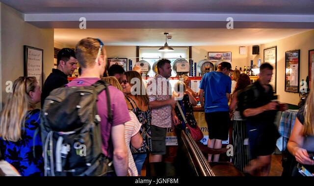 Churnet Valley, UK. 8th July, 2017. The UK's longest real ale festival the Churnet Valley Rail Ale Trail Beer - Stock Image