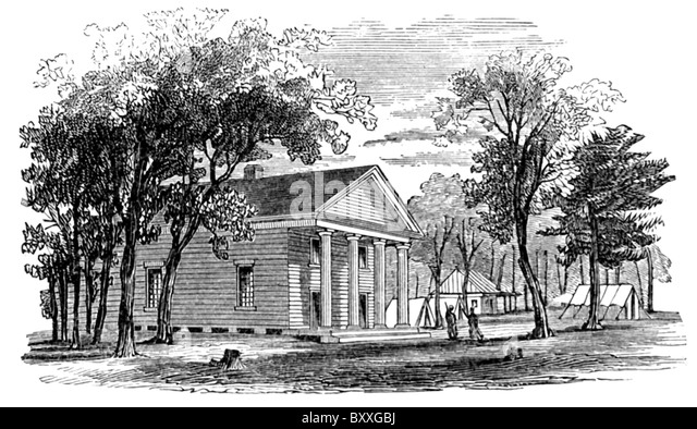 A severe battle during Seen Days battles  took place at Glendale, near Willis's Church (pictured here). - Stock Image