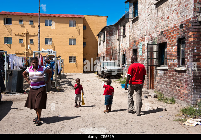 South Africa, Western Cape, Cape Town, township of Langa - Stock-Bilder
