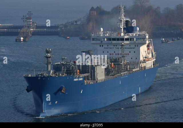 LPG-Tanker Yara Kara - Stock Image