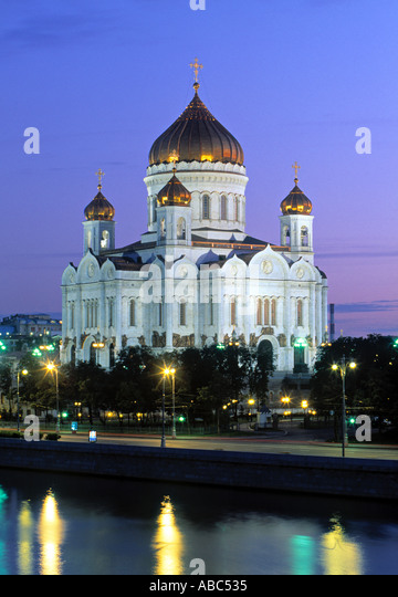 Christ the Saviour Church, Moscow, Russia - Stock Image