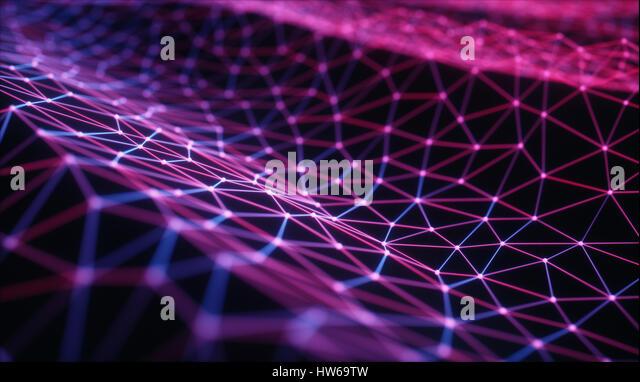 Purple connecting lines, illustration. - Stock-Bilder