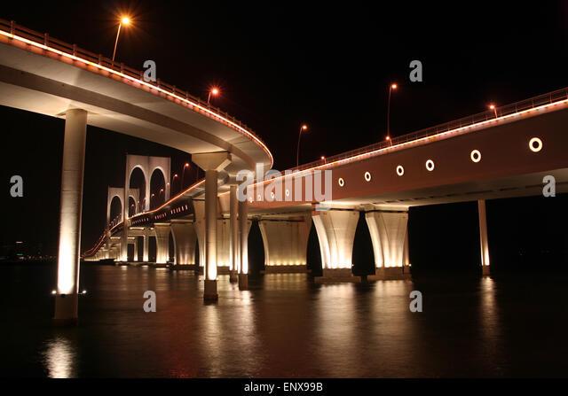 Governor Nobre de Carvalho Bridge in Macau - Stock Image