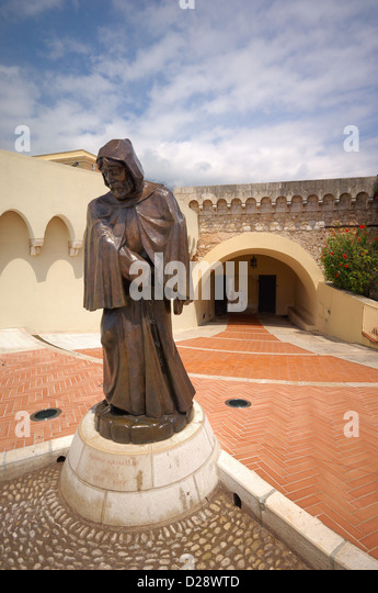 Grimaldi Statue of a Monk with a Sw - Stock Image