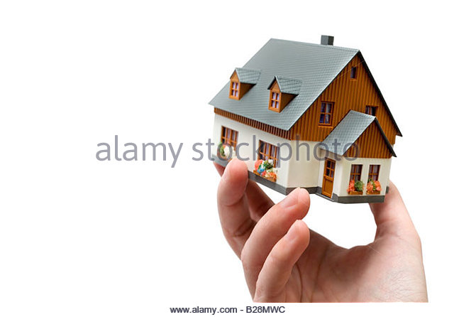 model of a house - Stock Image