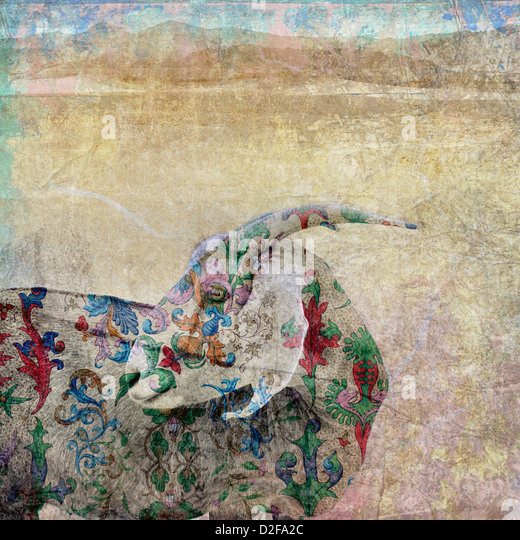 Photo based illustation. The scapegoat was a goat driven off into the wilderness as part of the ceremonies of Yom - Stock Image