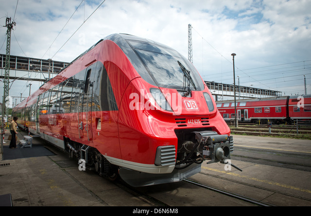 Berlin, Germany, presentation of the new TALENT 2 trains of Deutsche Bahn - Stock Image