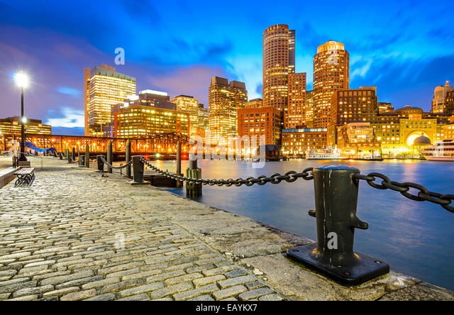 Boston, Massachusetts, USA Skyline at Fan Pier. - Stock Image