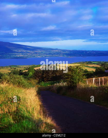 View Of County Leitrim And Lough Allen From County Roscommon, Ireland - Stock Image