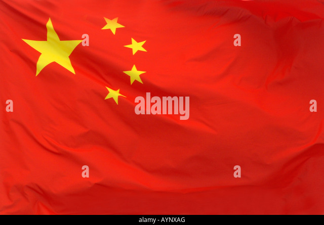 A Chinese flag in China - Stock-Bilder