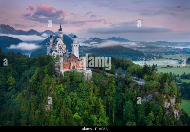 Neuschwanstein Castle, Germany. - Stock Image