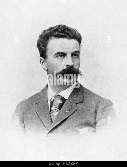 GUY DE MAUPASSANT WRITER (1850) - Stock-Bilder
