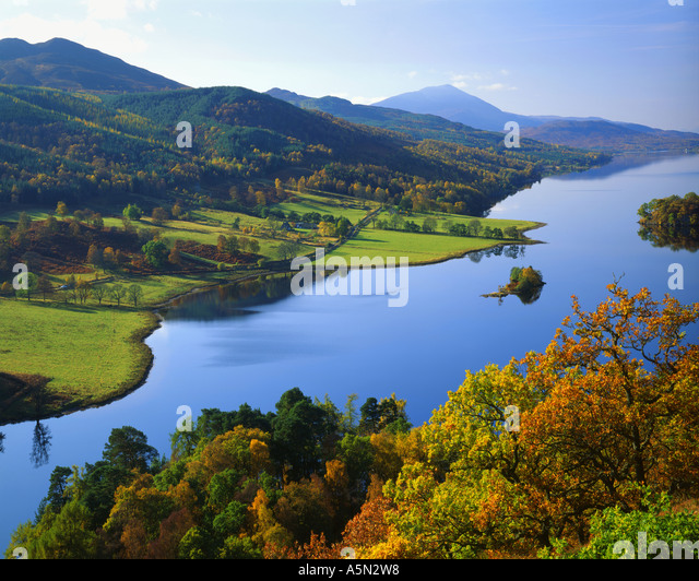 GB - SCOTLAND:  Loch Tummel from Queen's View in Tayside - Stock Image