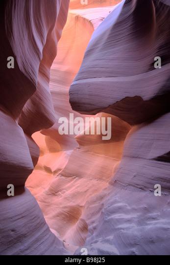 Lower Antelope Canyon, Page, Arizona - Stock Image