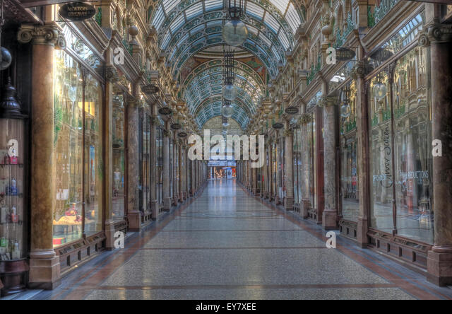 County Arcade,Leeds City Centre,West Yorkshire, England,UK - Stock Image