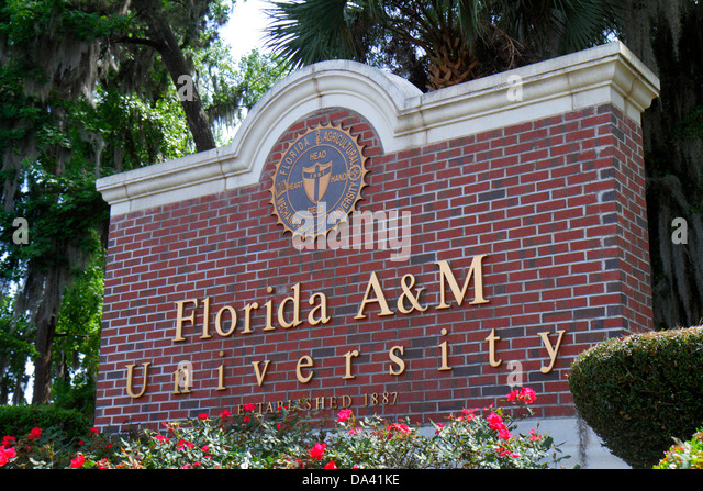 Tallahassee Florida Florida A&M University FAMU entrance campus school - Stock Image