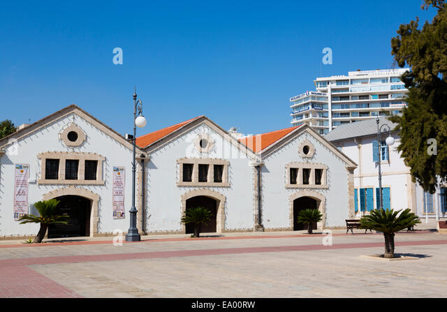 Larnaca Municipal Museam, Europe Square, Larnaca, Cyprus. - Stock Image