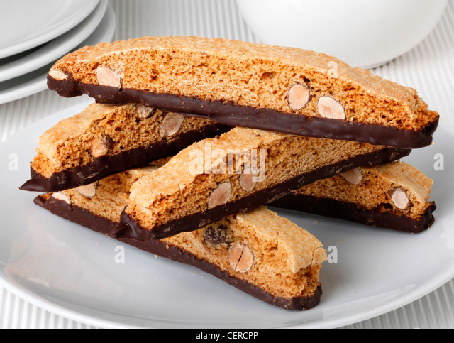 ITALIAN CHOCOLATE BISCOTTI - Stock Image