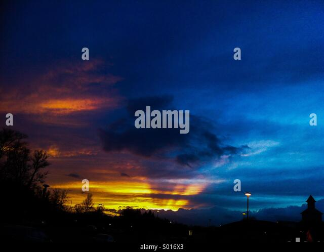 Sunset near Lowestoft - Stock Image