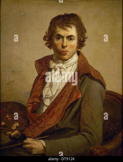 Self-Portrait, 1794. Artist: David, Jacques Louis (1748-1825) - Stock Image