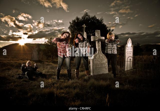 Zombie awakening - Stock Image