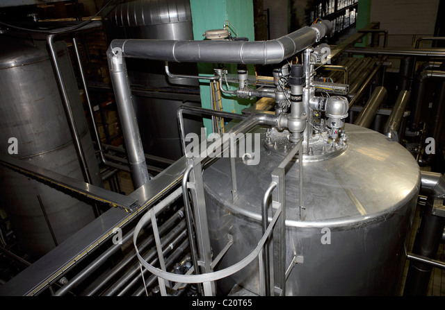 Aluminium pipes and machinery, tubes, industry, industrial, factory, generic, manufacturing, heavy industry, - Stock Image