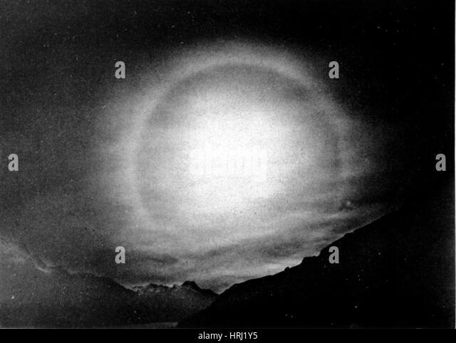 22 Degree Solar Halo, 1928 - Stock Image