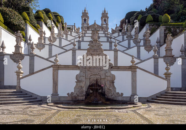Bom Jesus do Monte - a Portuguese sanctuary in Tenoes, outside the city of Braga, in northern Portugal. Its name - Stock Image