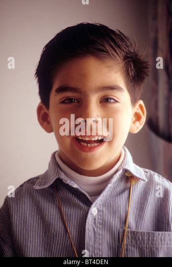 Happy Mexican American Teen Boy Stock Photos & Happy