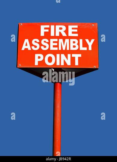 fire assembly point stock photos fire assembly point. Black Bedroom Furniture Sets. Home Design Ideas