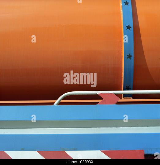 Jordan, Amman, Fuel tanker, close up - Stock Image