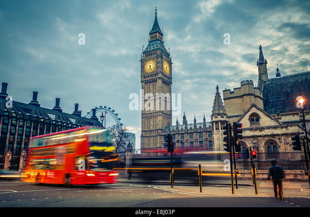 London at early morning - Stock-Bilder