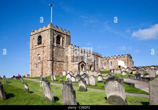 St. Mary's Parish Church at Whitby, North Yorkshire, Yorkshire, England, United Kingdom, Europe - Stock Image