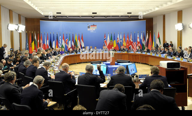 Meeting of NATO Foreign Ministers - Stock Image