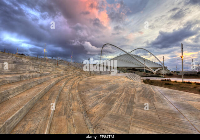 The Olympic Velodrome stadium in Athens - Stock Image