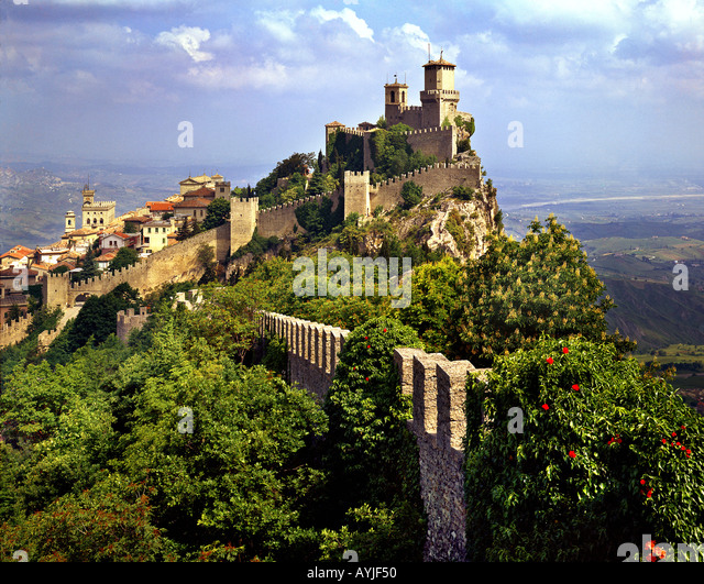 SM - SAN MARINO: Monte Titano - Stock-Bilder