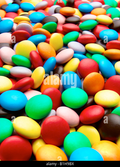 Chocolate Beans or Smarties - Stock Image