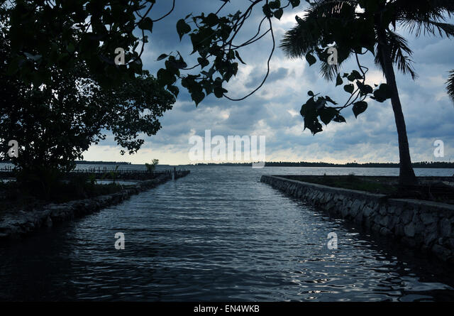 Water in perspective. - Stock Image