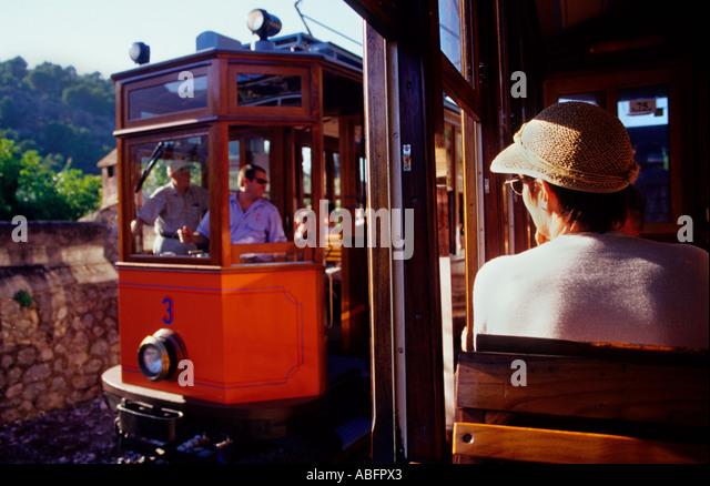 Soller old tramway. Majorca.Balearic Islands .Spain - Stock Image