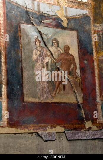 aedes antiquity Archaeological site archaeology architecture augustales bury Campania college color image depict - Stock-Bilder