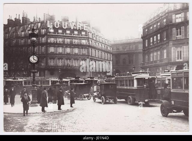 Hotel du Louvre, Paris, France - Stock Image