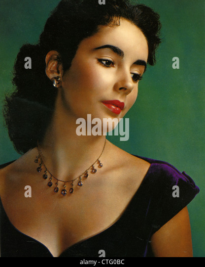 ELIZABETH TAYLOR (1932-2011)  US film actress about  1950 - Stock Image