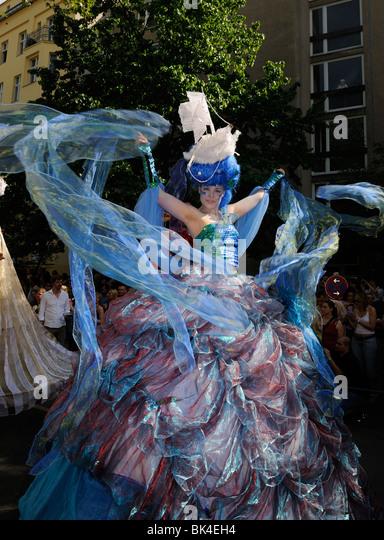 Karneval der Kulturen, Carnival of Cultures, Berlin, Kreuzberg district, Germany, Europe. - Stock-Bilder