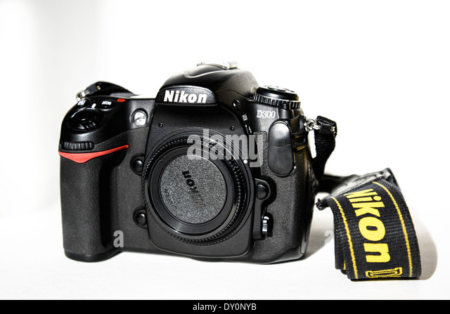 Nikon D300 DSLR camera body - Stock Image