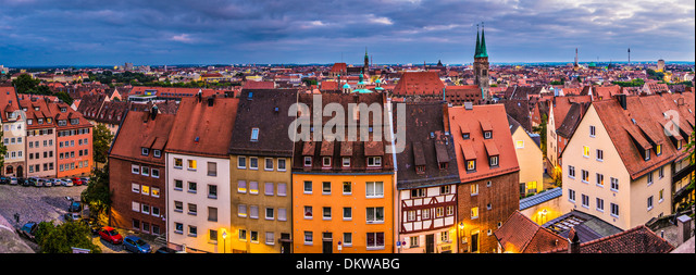Nuremberg, Germany cityscape panorama. - Stock Image