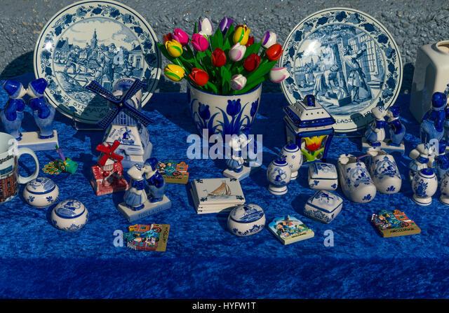 Souvenir stall,  Amsterdam, Netherlands, Europe - Stock Image