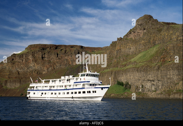 Washington Northwest The Palouse Lyons Ferry Park Columbia Snake River Cruise Spirit of Columbia - Stock Image
